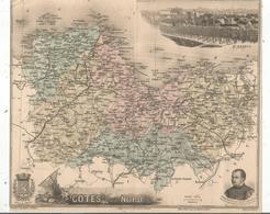 Carte Géographique Côtes Du Nord , Gravé Par Smith, Dadour Et Waltner , Migeon éditeur , St Brieuc , Frais Fr 1.65 E - Carte Geographique