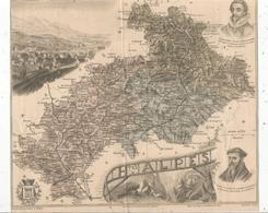 Carte Géographique Hautes Alpes, Gravé Par Lecocq, Barbier Et Waltner , Migeon éditeur , GAP , Frais Fr 1.65 E - Carte Geographique