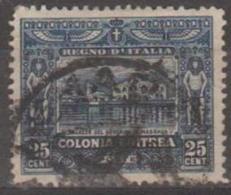 ERITRIA - 1910 25c Building. Scott 48. Used - Erythrée