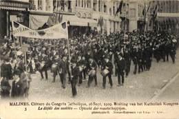 Malines - Sluiting Van Het Katholiek Kongres 1909 (top Animatie) - Malines