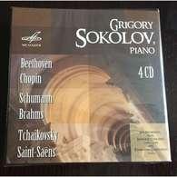 Grigory Sokolov, Piano: Beethoven Chopin Schumann Brahms Tchaikovsky Saint-Saens 4CD BOX Melodia, NEW - Classical