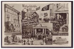 DT-Reich (006798) Propaganda AK Weltgeschichte Am Rhein, Chamberlin In Bad Godesberg, Seltene Mehrfeldkarte, Blanco - Deutschland