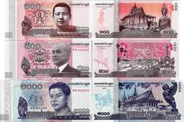 Cambodia 2014-16 Set 3 Pcs 100+500+1000 Riels - Pick NEW UNC - Cambodge