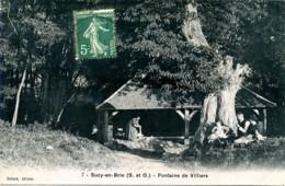 7 Sucy-en-Brie. (S. Et O.). Fontaine De Villiers, Lavandiere. (94). - Sucy En Brie