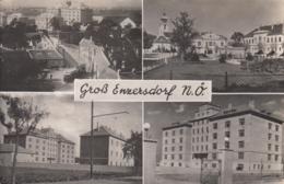 AK -NÖ -  GROSS ENZERSDORF - Mehrbild - Strassenansicht - Kaserne -Kirchenplatz 1950 - Gänserndorf