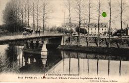 PONTIVY -56- LE PONT NEUF L'ECOLE PRIMAIRE SUPERIEURE DE FILLES - Pontivy