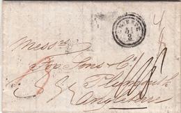 Zante, Isole Ionie Per Plymouth. Gran Bretagna. Transito A Trieste, Lettera Con Contenuto 21 Agosto 1851 - Grecia