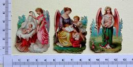 3 CHROMOS DECOUPIS....ANGES ...NATIVITÉ...ENFANTS - Découpis