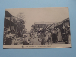 HAÏTI Port Au Prince Rue Populaire ( Thill ) Anno 1928 (Filles De Marie (Paridaens) ( Zie Foto Details ) ! - Cartes Postales