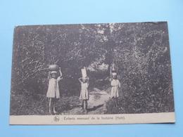 HAÏTI Enfants Revenant De La Fontaine / Filles De Marie (Paridaens) ( Thill ) Anno 192? ( Zie Foto Details ) ! - Postkaarten