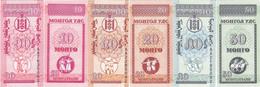 Mongolia 1993 Set 3 Pcs 10+20+50 Mongo - Pick 49-51 UNC - Mongolie