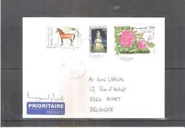 Lettre De Tunisie Vers La Belgique - 2002 (à Voir) - Tunisie (1956-...)