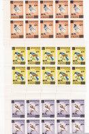Jordan 2009, Birds Overprinted 3v.compl.set Corner Bloc's Of 10 Sets-MNH-Scarce- Red. Pr. SKRILL OAY ONLY - Jordan