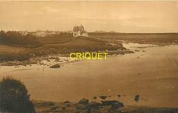 29 Kersaint, Plage De Guisellier, Belles Villas En Arrière, Affranchie 1932, Cliché Peu Courant - Kersaint-Plabennec