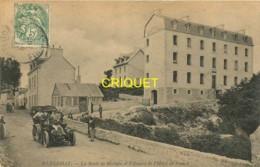 29 Huelgoat, Route De Morlaix Et Annexe De L'Hotel De France, Affranchie 1907, Superbe Tacot Au 1er Plan - Huelgoat