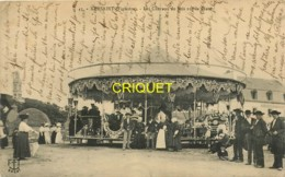 29 Kersaint, Les Chevaux De Bois Sur La Place, Superbe Manège En Gros Plan, 1913 - Kersaint-Plabennec