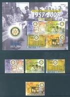 PAPUA NEW GUINEA -  MNH/** - 2007 -ROTARY - Yv 1169-1172 BLOC 39 -  Lot 18246 - Papua-Neuguinea