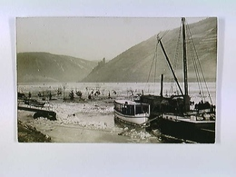 Bingen A. Rhein, Eisgang, Schiff Fritz, AK, Ungelaufen, Ca. 1940 - Germany