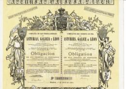 ESPAGNE-CHEMINS DE FER DES ASTURIES, GALICE & LEON.1880.  DECO - Other