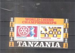 Echecs - Bloc De Tanzanie - XX/MNH (à Voir) - Echecs