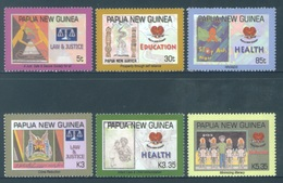 PAPUA NEW GUINEA -  MNH/** - 2007 - LAW JUSTICE HEALTH EDUCATION - Yv 1163-1168 -  Lot 18247 - Papouasie-Nouvelle-Guinée