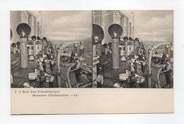 - CPA STEREOSCOPIQUE - A Bord D'un Transatlantique - Manoeuvre D'Embarcation - Editions Lévy N° 3 - - Cartes Stéréoscopiques