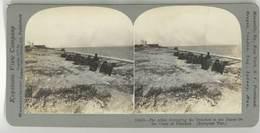 Photo Stéréoscopique - Tranchées Alliés , Côte Des Flandres, Guerre, War - Photos Stéréoscopiques