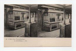 - CPA STEREOSCOPIQUE - A Bord D'un Transatlantique - Le Grill-Room - Editions Lévy N° 10 - - Cartes Stéréoscopiques