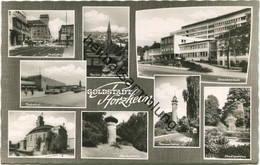 Pforzheim - Bahnhof - Industriehaus - Foto-AK 60er Jahre - Verlag Dr. Hans Knöpfel Heilbronn - Pforzheim