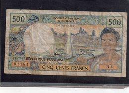 Billet De 500 Francs Papeete, - Papeete (Polynésie Française 1914-1985)
