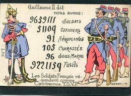 CPA - Illustration Derdy - Guillaume II Dit: Nous Avons 9659111 Soldats, ... - Guerre 1914-18