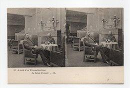 - CPA STEREOSCOPIQUE - A Bord D'un Transatlantique - Le Salon Fumoir - Editions Lévy N° 15 - - Cartes Stéréoscopiques