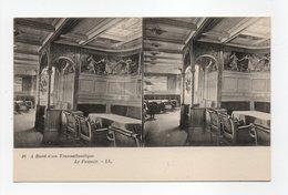 - CPA STEREOSCOPIQUE - A Bord D'un Transatlantique - Le Fumoir - Editions Lévy N° 16 - - Cartes Stéréoscopiques
