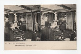 - CPA STEREOSCOPIQUE - A Bord D'un Transatlantique - La Chambre Des Capitaines - Editions Lévy N° 21 - - Cartes Stéréoscopiques