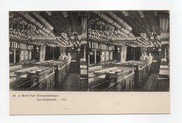 - CPA STEREOSCOPIQUE - A Bord D'un Transatlantique - Les Cuisiniers - Editions Lévy N° 23 - - Cartes Stéréoscopiques