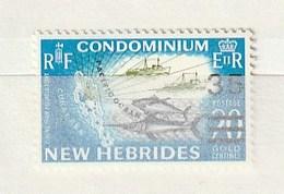 Nouvelles Hébrides 1970 16035c SurchargeNH 1v - Leyenda Francesa