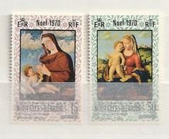 Nouvelles Hébrides 1970 161-62Virgin, Child NH 2v - Leyenda Francesa