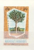 Nouvelles Hébrides 1969 151Kauri PineNH 1v - Leyenda Francesa