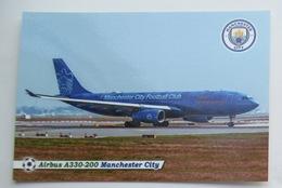 England.  Airliner Airbus A330-200 Manchester City / Etihad Airways - 1946-....: Era Moderna