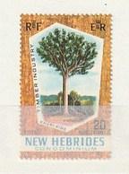 New Hebrides 1969 132Kauri PineNH 1v - Leyenda Inglesa