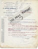 39 - Jura - SALINS - Facture VITTET-DUBULLE - Scierie, Bois - 1924 - REF 112D - France