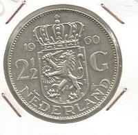 Monnaie, Pays Bas, NEDERLAND , 1960 , 2 1/2 Gulden ,Juliana Koningin Der Nederlanden, Frais Fr 1.85 E - [ 3] 1815-… : Kingdom Of The Netherlands