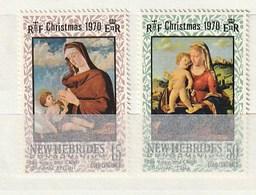 New Hebrides 1970 142-43Christmas PaintingNH 2v - Leyenda Inglesa