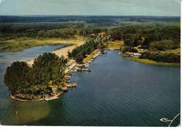 40 Parentis En Born Vers Biscarrosse Le Lac La Pointe Du Pirou Belle Vue Aérienne En 1974 - Biscarrosse