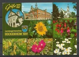 Deutschland Hockenheim Landesgartenschau 1991 Sent With Stamp - Hockenheim