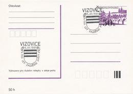 I0285 - Tschechoslowakei (1991) Vizovice: 150 Jahre Postamt (Wappen Der Stadt Vizovice) - Post
