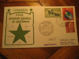 ESPERANTO Zaragoza 1967 Cancel Cover SPAIN - Esperanto