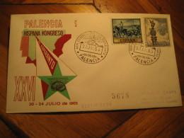 ESPERANTO Palencia 1965 Cancel Cover SPAIN - Esperanto