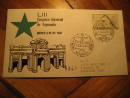 ESPERANTO Madrid 1968 Cancel Cover SPAIN - Esperanto