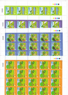 Jordan 2010 Environment Protection 4 Stamos In Complete Sheet Unfolded 20 Sets-MNH- Red. Price - SKRILL PAY ONLY - Jordan